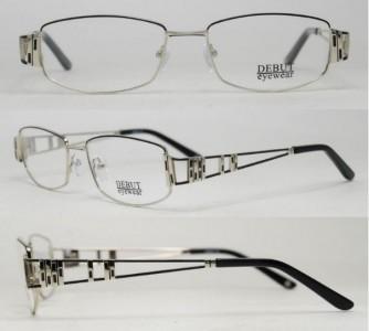 Серебристая металлическая оправа Debut Eyewear