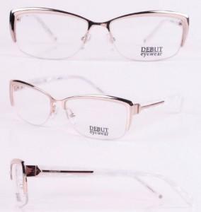 Жемчужная серебристая комбинированная оправа Debut Eyewear