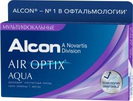 Ежемесячные мультифокальные контактные линзы Air Optix Aqua Multifocal 3 линзы