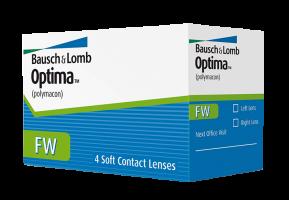 Ежеквартальные контактные линзы Optima FW 4 линзы