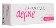Ежедневные контактные линзы 1 Day Acuvue Define естественое сияние 30 линз